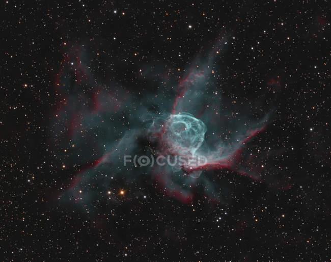 NGC 2359 торов шлем в истинных цветах в высоком разрешении — стоковое фото