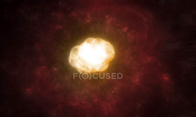 Hypergiant Star in true colors in high resolution — Stock Photo