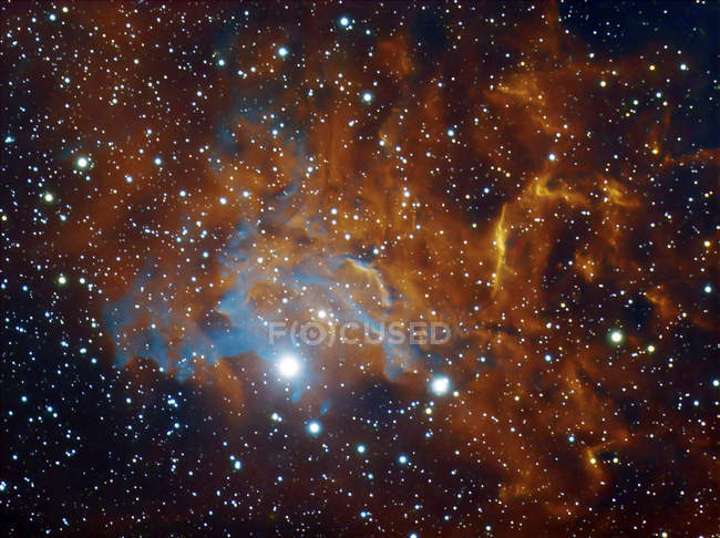 Flaming Star nébuleuse Ic 405 dans Auriga en haute résolution — Photo de stock