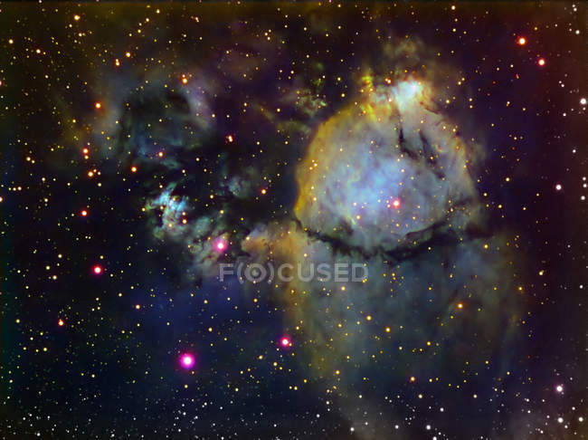 NGC 896 part of Heart nebula in Cassiopeia in high resolution — Stock Photo