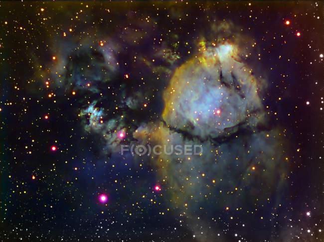 NGC 896 частью сердце туманности в Кассиопея с высоким разрешением — стоковое фото