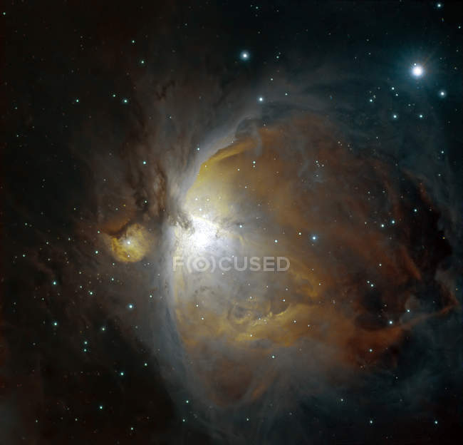 M42 nebula in Orion in true colors in high resolution — Stock Photo
