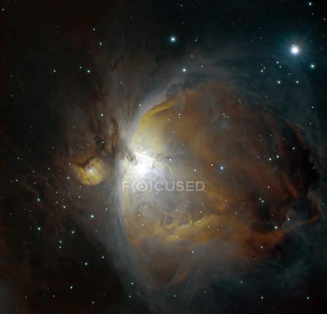 M42 туманность в Орион в истинных цветах в высоком разрешении — стоковое фото