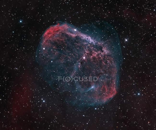 Crescent Nebula Ngc 6888 in veri colori in alta risoluzione — Foto stock