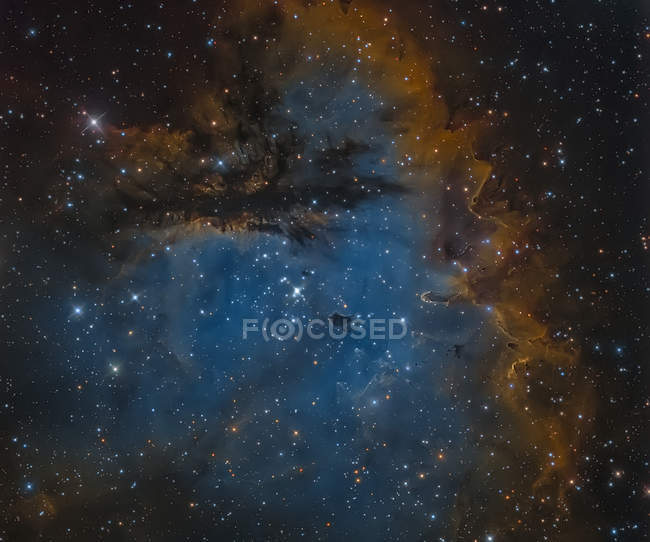 NGC 281 Pacman Nebula in true colors in high resolution - foto de stock