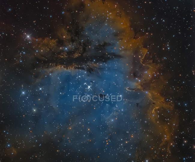 NGC 281 Pacman Nebula em verdadeiras cores em alta resolução — Fotografia de Stock