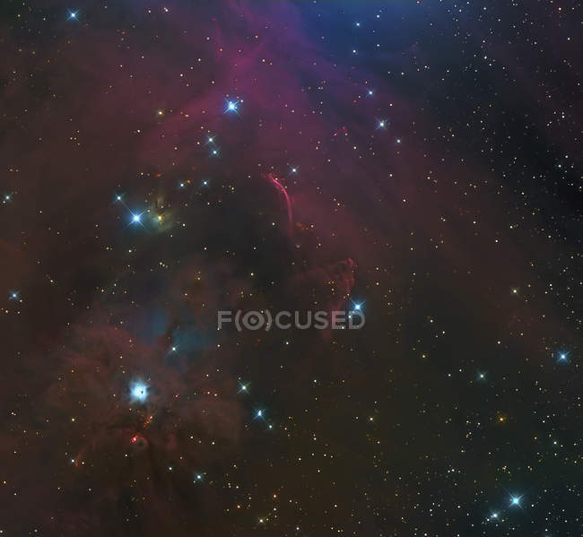 HH-222 Waterfall Nebula in constellation Orion in high resolution — Stock Photo
