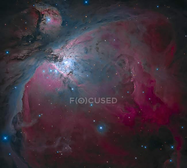 Большая туманность Ориона в истинных цветах в высоком разрешении — стоковое фото