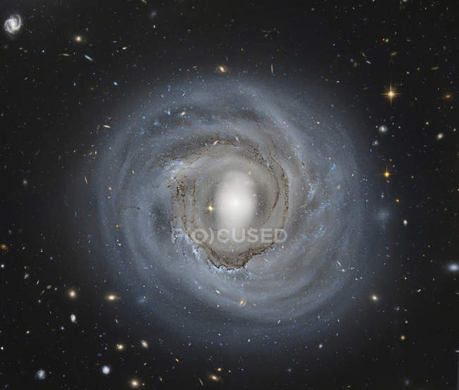 NGC 4921 barred spiral galaxy in Coma Cluster — Stock Photo