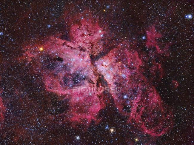 Carina Nebula in true colors in high resolution — Stock Photo