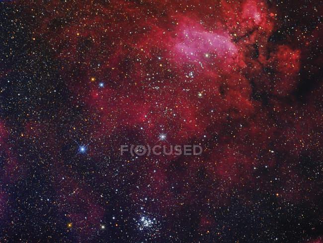 Open cluster NGC 6231, Prawn Nebula and surroundings — Stock Photo