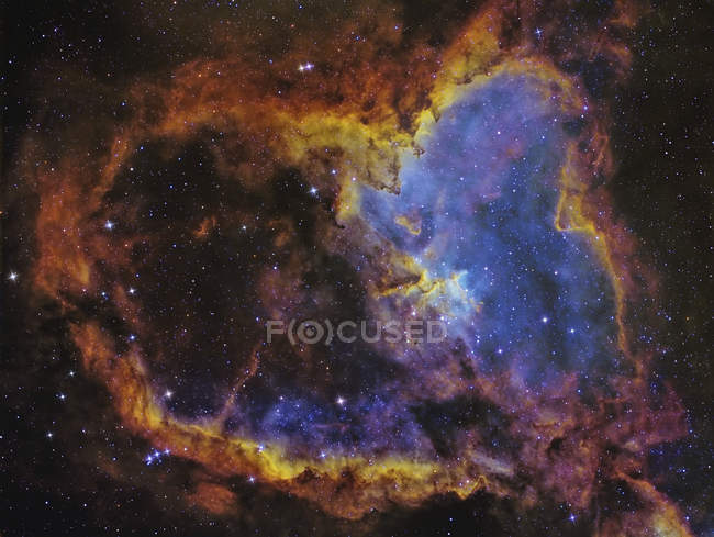 IC 1805 Heart Nebula in constellation Cassiopeia in high resolution - foto de stock