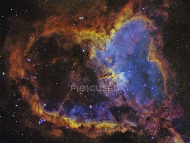 IC 1805 cuore nebulosa situata nella costellazione di Cassiopea in alta risoluzione — Foto stock