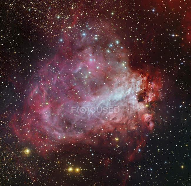 Omega Nebula in constellation Sagittarius in high resolution — Stock Photo