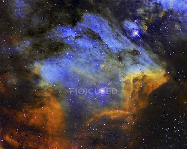 Colorful Pelican Nebula in constellation Cygnus in high resolution — Stock Photo