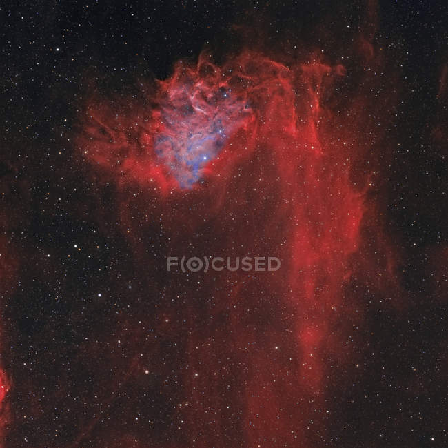 Flaming Star Nebula IC 405 in high resolution - foto de stock