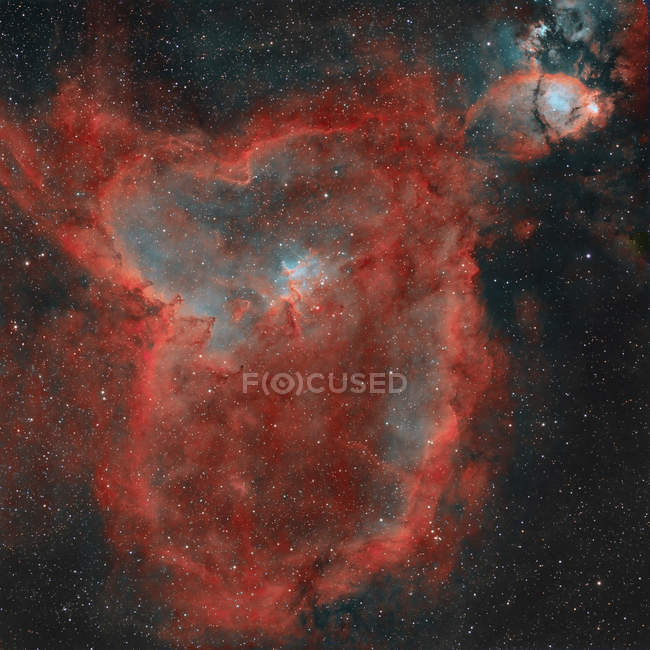 IC 1805 Heart Nebula in true colors in high resolution — Stock Photo