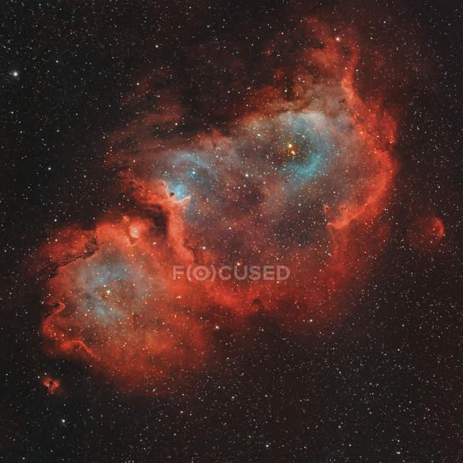 Nebulosa di anima di IC 1848 in veri colori in alta risoluzione — Foto stock