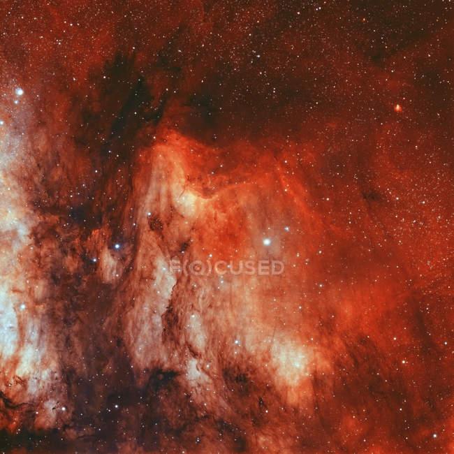 Туманність Пелікан IC 5070 в справжній кольори з високою роздільною здатністю — стокове фото