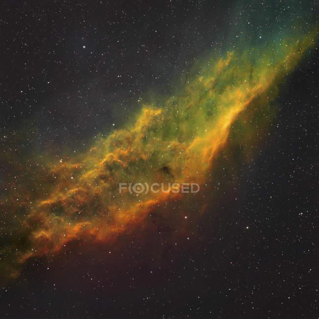 Ngc 1499 kalifornischer Nebel in echten Farben in hoher Auflösung — Stockfoto