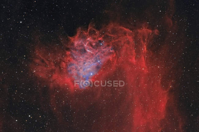 Flaming Star Nebula IC 405 in true colors in high resolution - foto de stock