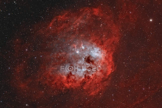 IC 410 Tadpole Nebula in Auriga in high resolution — Stock Photo