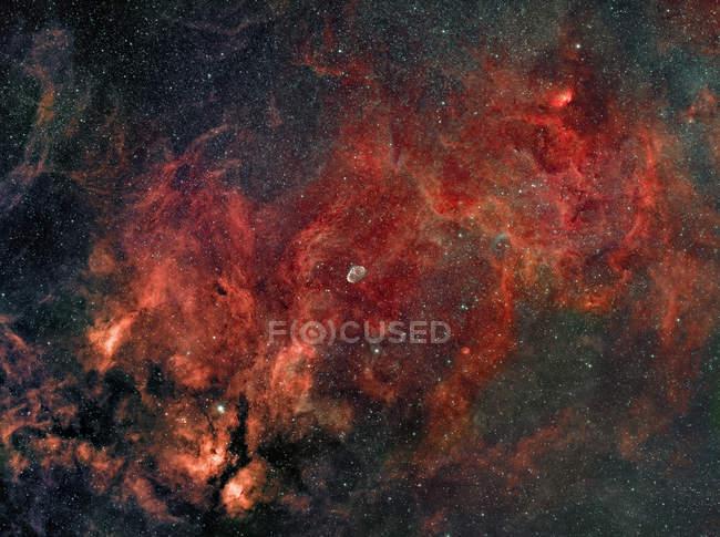 Полумесяца туманность Ngc 6888 в истинных цветах в высоком разрешении — стоковое фото