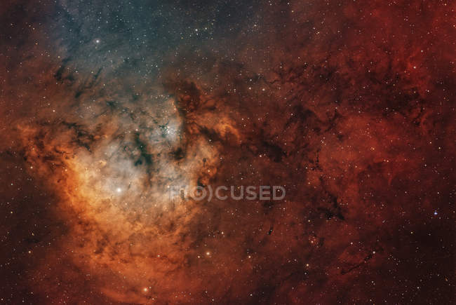 View of young star-forming complex NGC 7822 in constellation of Cepheus — Stock Photo