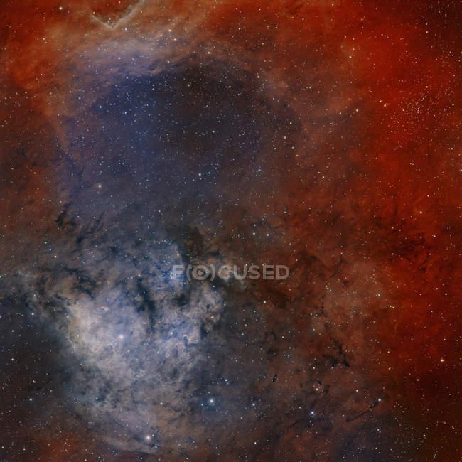 Молодий starforming комплекс Ngc 7822 в сузір'я Цефея — стокове фото