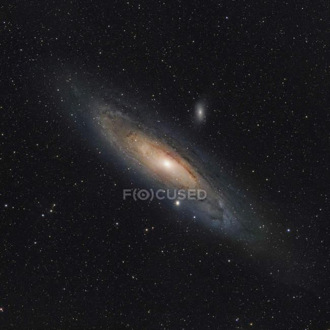 M31 Galaxia de Andrómeda en colores verdaderos en alta resolución - foto de stock