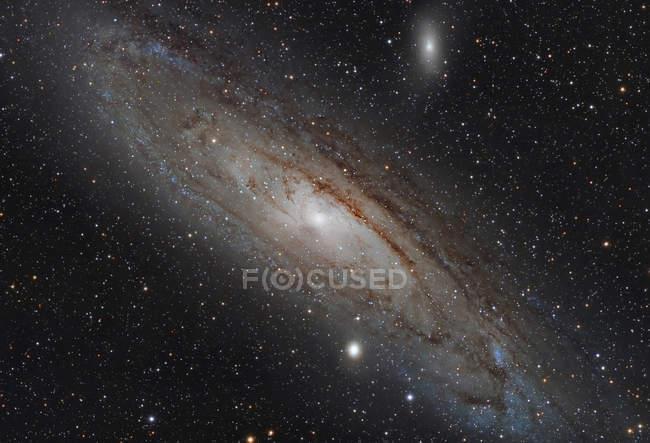 Andrómeda galáxia Messier 31 Ngc 224 em alta resolução — Fotografia de Stock