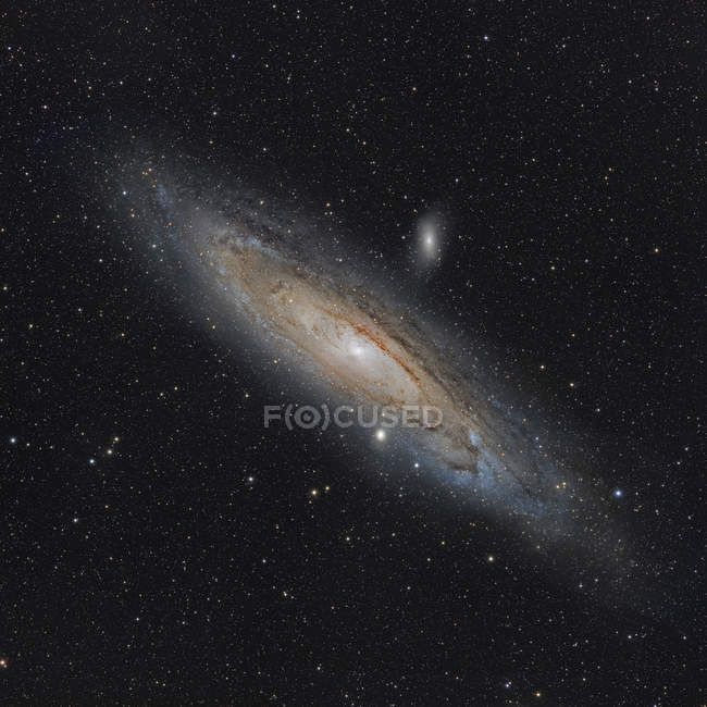 Andromeda Galaxy Messier 31 NGC 224 en alta resolución - foto de stock