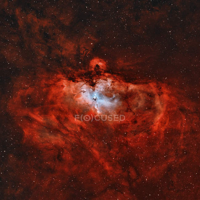 Nebulosa Aquila M16 nella costellazione del serpente in alta risoluzione — Foto stock