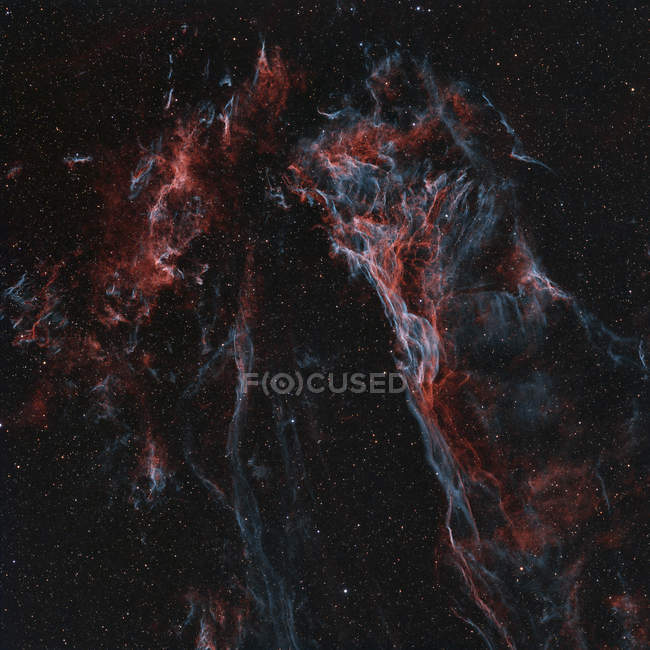 Remanescente de supernova grande Pickerings Wisp Triangular na constelação de Cygnus — Fotografia de Stock