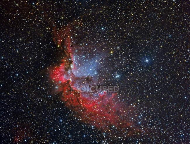 Nebulosa NGC 7380 Wizard en colores verdaderos en alta resolución - foto de stock