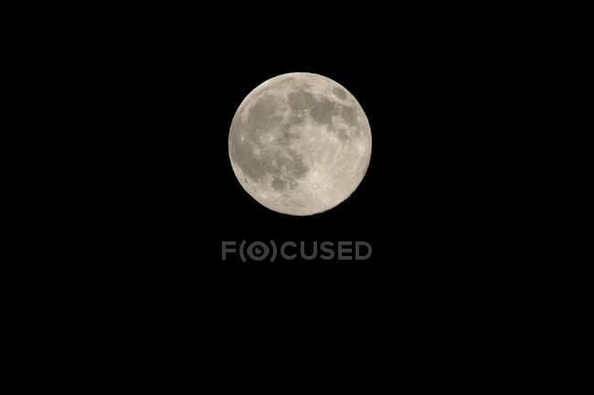 Повний місяць на чорному фоні з високою роздільною здатністю — стокове фото