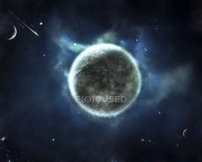 Recentemente scoperto pianeta simile alla terra — Foto stock