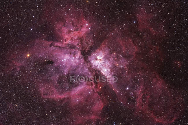 NGC 3372 Carina Nebula in true colors in high resolution - foto de stock