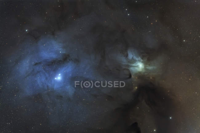 IC 4603 dust and reflection nebula in constellations Scorpius and Ophiuchus - foto de stock