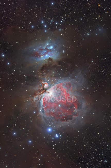 Шаровое скопление 42 Большая туманность в Орион и Туманность Ngc 1977 работает человек — стоковое фото