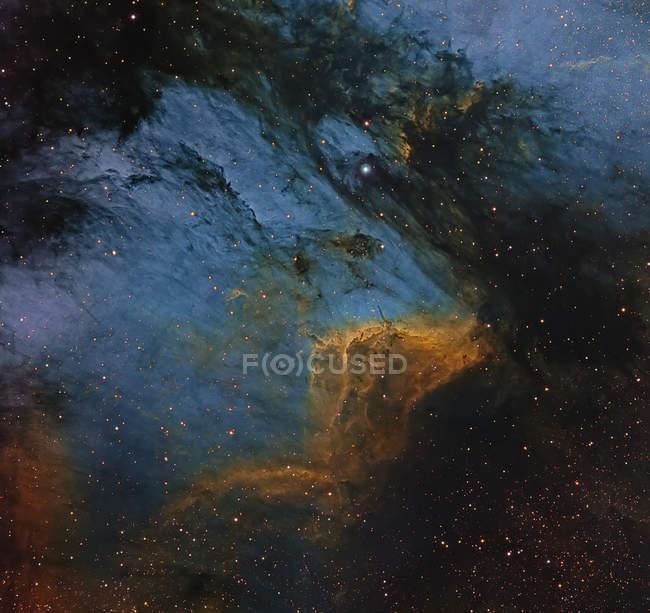 Пеликан регионе туманность H Ii в созвездии Лебедя — стоковое фото