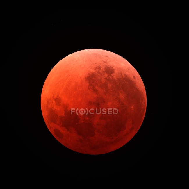Lunar eclipse in high resolution on black background — Stock Photo