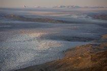 Calota de gelo derreter perto Isortoq, Greenland — Fotografia de Stock
