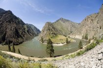 Rafting near Confluence of the Middle Fork of the Salmon River and Main Stem of the Salmon River — Stock Photo