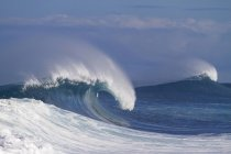 Wave breaking at off Wall on north shore of Oahu in Hawaii — Stock Photo