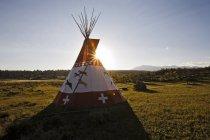 Vue panoramique du tipi sur le plateau de Uncompahgre, Colorado — Photo de stock