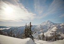 Paysage du Mont Baker au cours de l'hiver à Washington — Photo de stock