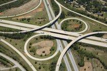 Вид з листа конюшини I-85 і I-26 в Spartanburg, Sc — стокове фото
