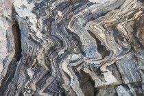 Gnarled, marbled granite on Teewinot Mountain, Grand Teton National Park, Wyoming — Stock Photo