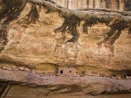 Индийский руины в гравий Каньон, Меса кедр площади, Юта — стоковое фото